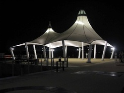 PTFE is used world wide as the preferred material for large-scale permanent tensile structures or structures requiring long life and with specific ... & ETFE and PTFE Structures - Fabric Architect